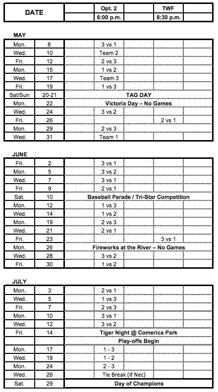 2017RB Schedule